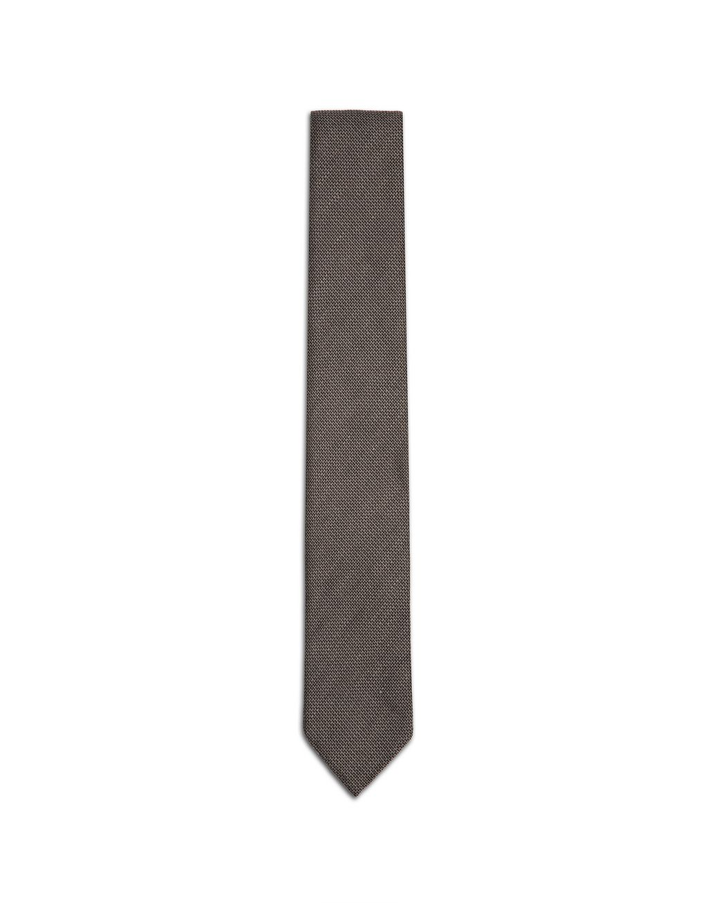 BRIONI Taupe Unlined Tie   Tie [*** pickupInStoreShippingNotGuaranteed_info ***] f