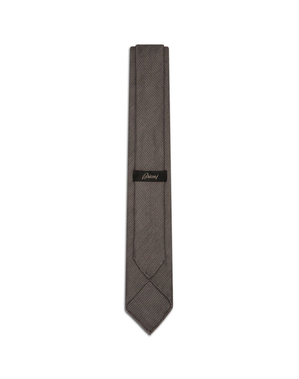 BRIONI Taupe Unlined Tie   Tie [*** pickupInStoreShippingNotGuaranteed_info ***] r