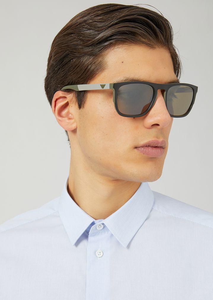 2bedc669b864 Gafas de sol cuadradas de caucho y aluminio