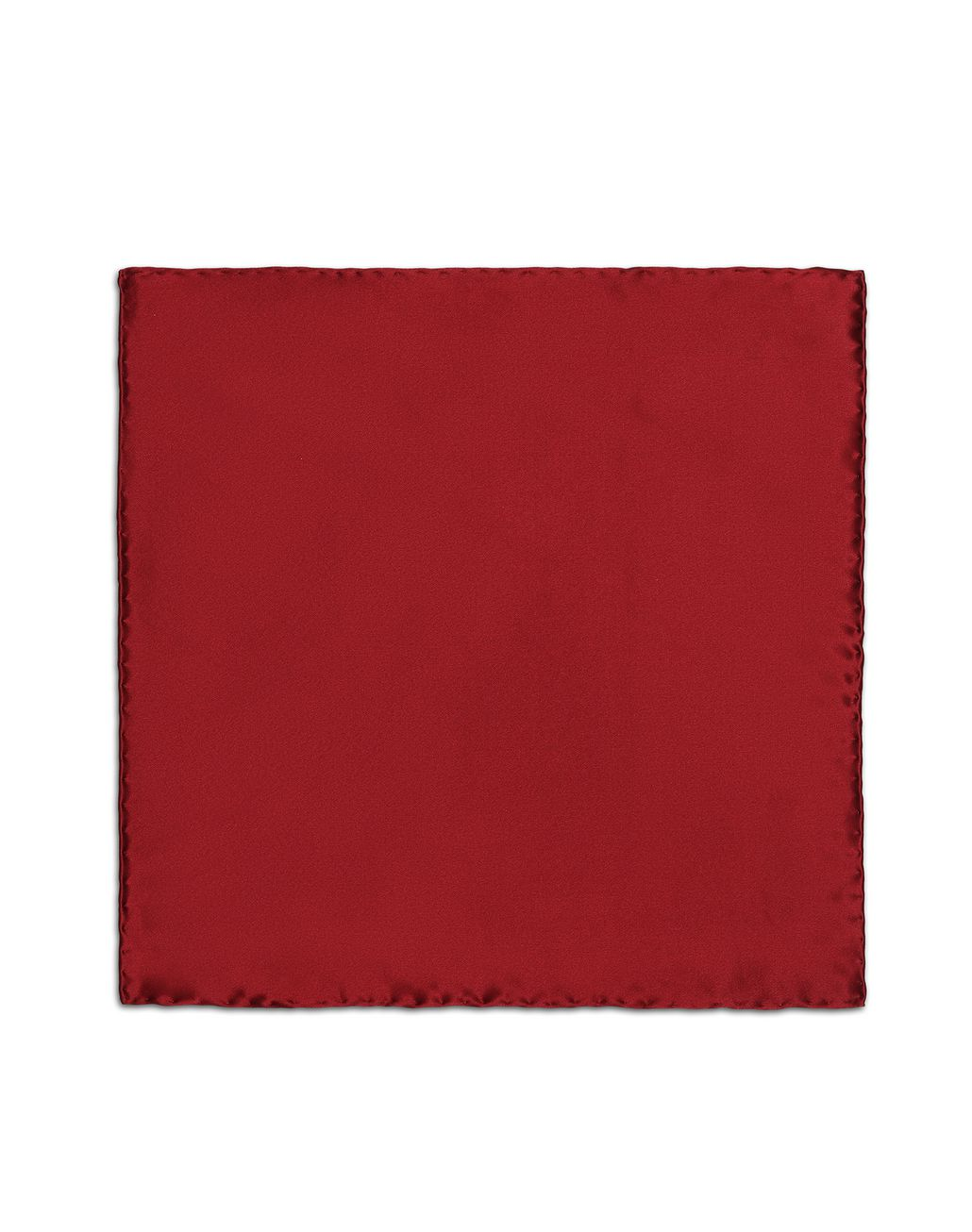 BRIONI Bordeaux Hand-Rolled Pocket Square Pocket Square Man f