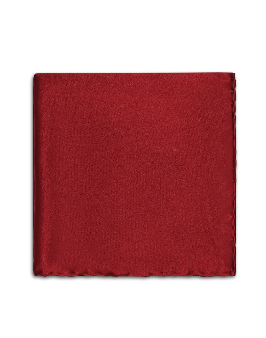 BRIONI Bordeaux Hand-Rolled Pocket Square Pocket Square Man r