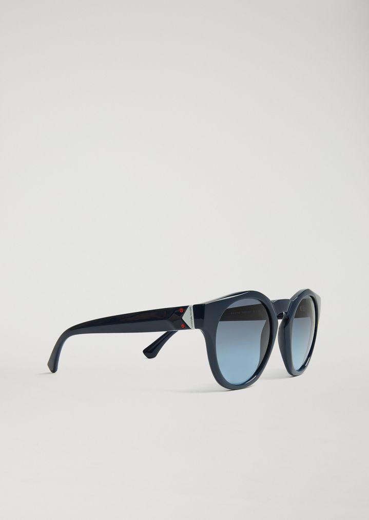 579e9706a7 Gafas de sol con inserción en contraste | Mujer | Emporio Armani
