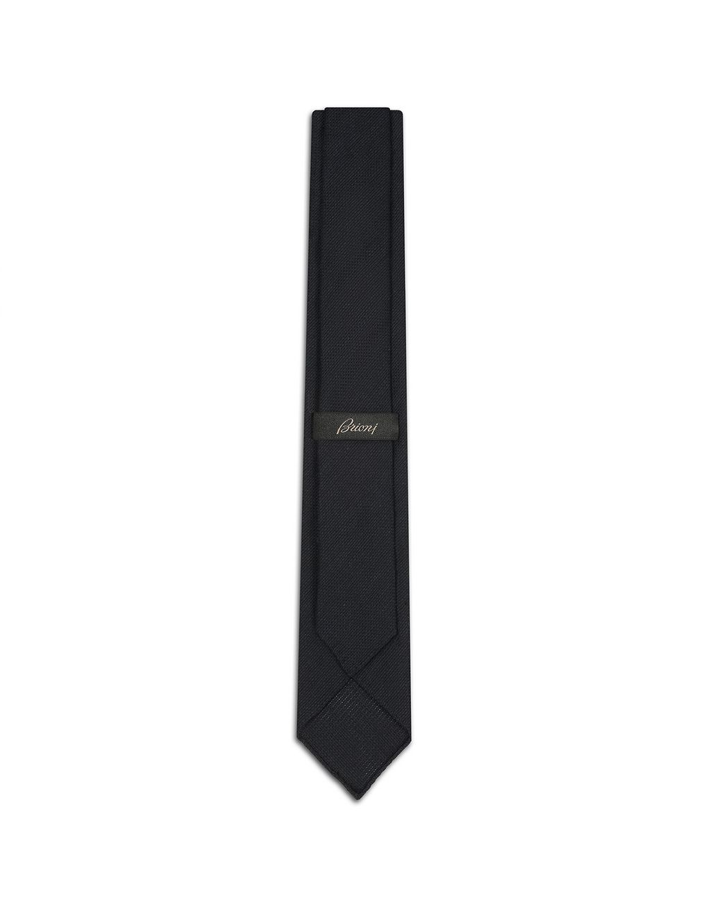 BRIONI Navy-Blue Unlined Tie Tie Man r