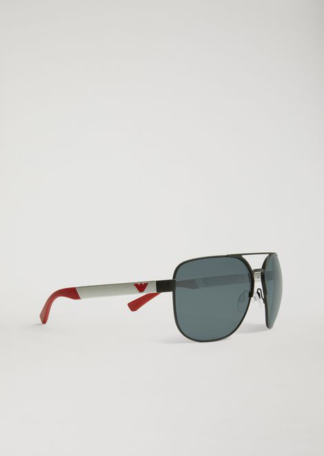 8017b42e442 Aviator sunglasses in rubber   aluminium