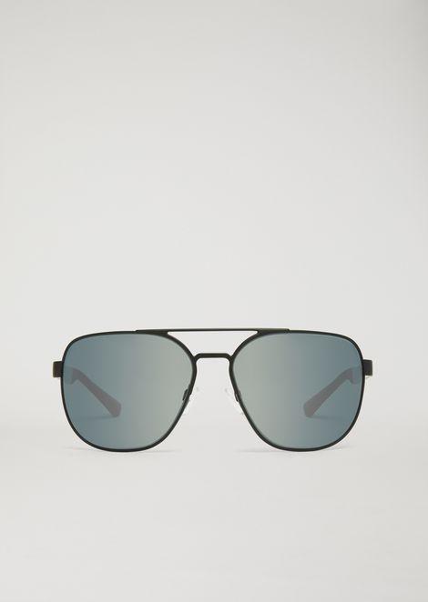 Occhiali da Sole aviatore rubber & aluminium