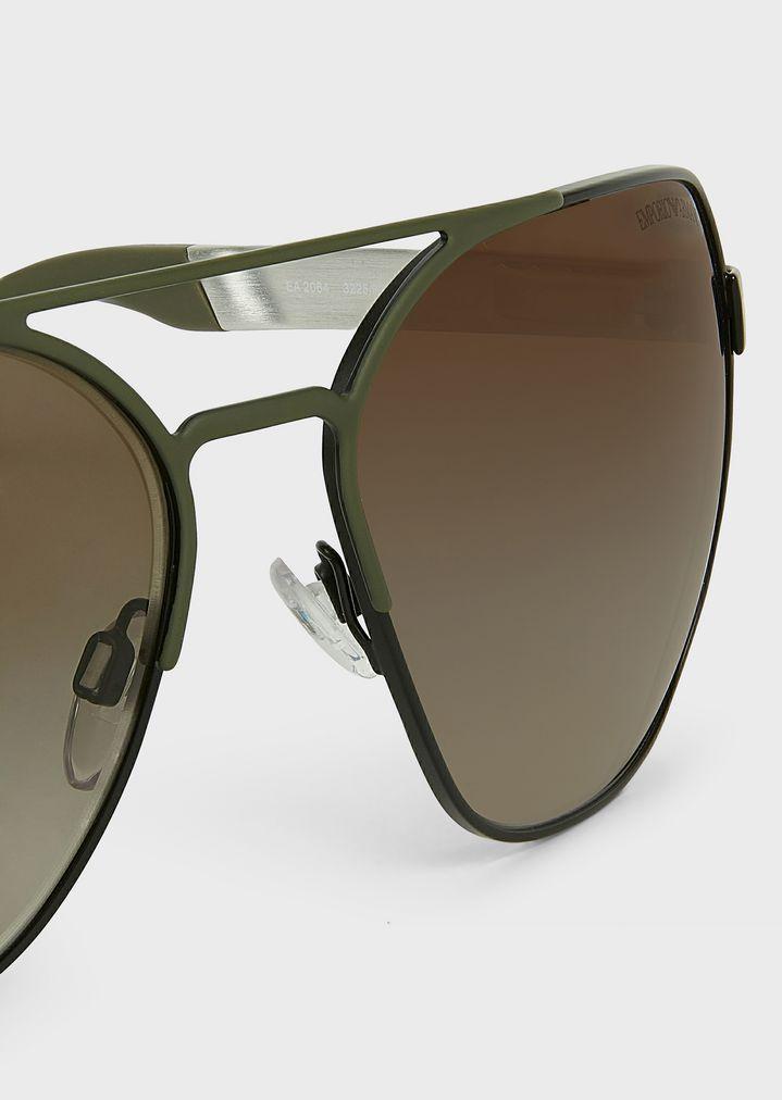 debbd08cbf3e ... Man · Sunglasses  Aviator sunglasses in rubber   aluminium. EMPORIO  ARMANI