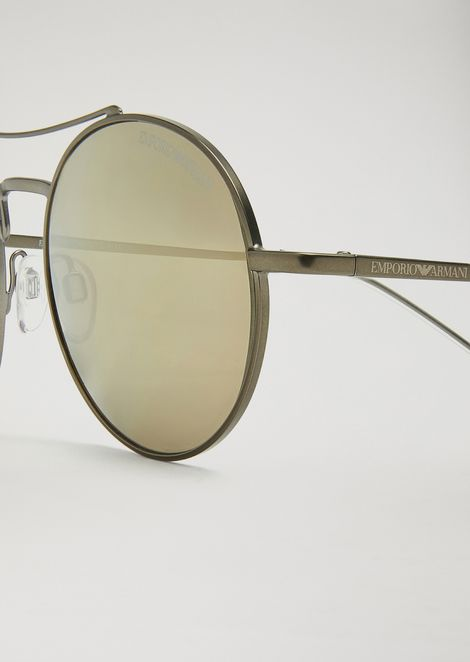 Rounded New Metals sunglasses with arched bridge