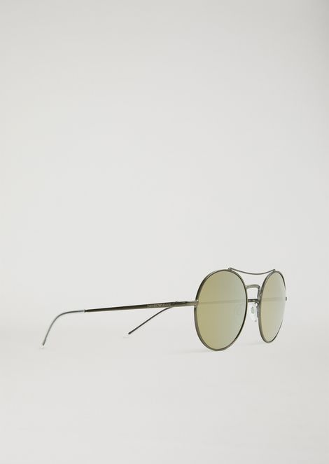 467c58cd5c65 Rounded New Metals sunglasses with arched bridge