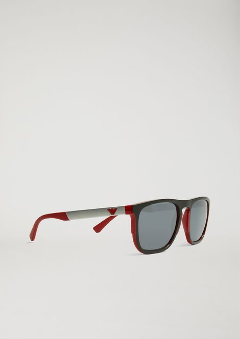 6ee5c2639b4d Square sunglasses in rubber   aluminium