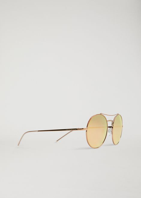 cf775c27bd0 Rounded New Metals sunglasses with arched bridge