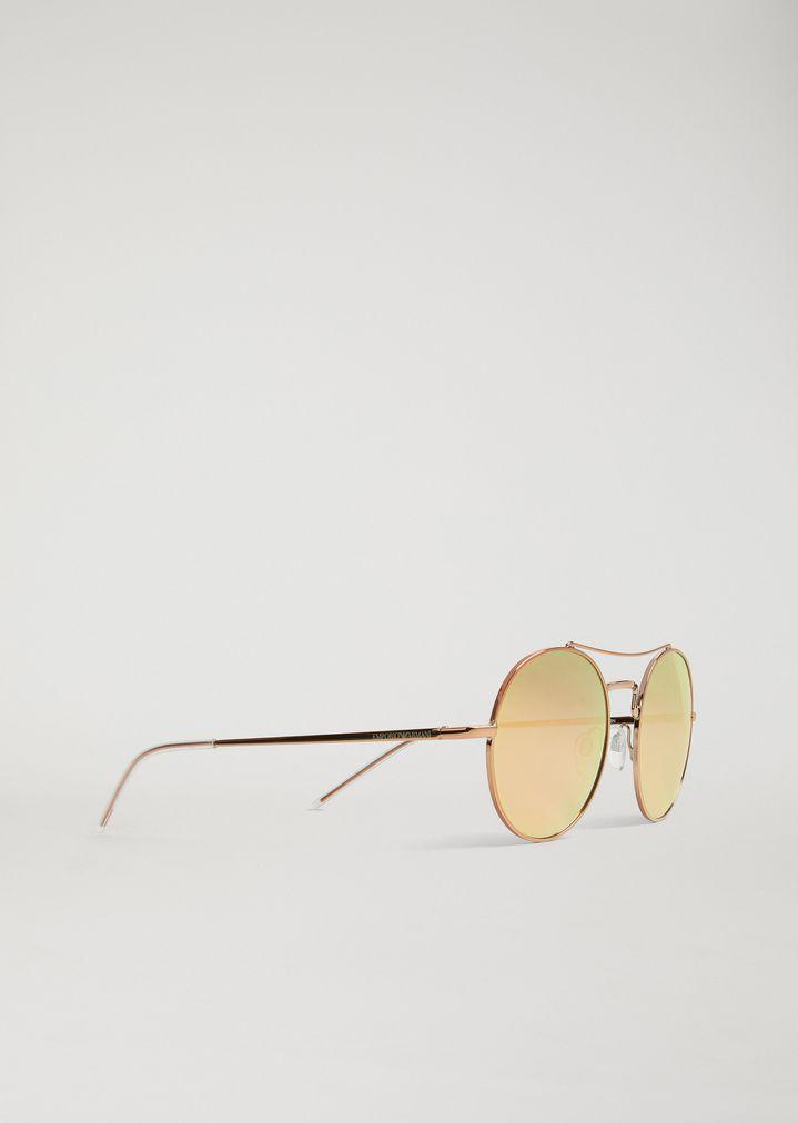 0f61568dc6 Gafas de sol redondas New Metals con puente arqueado | Hombre | Emporio  Armani
