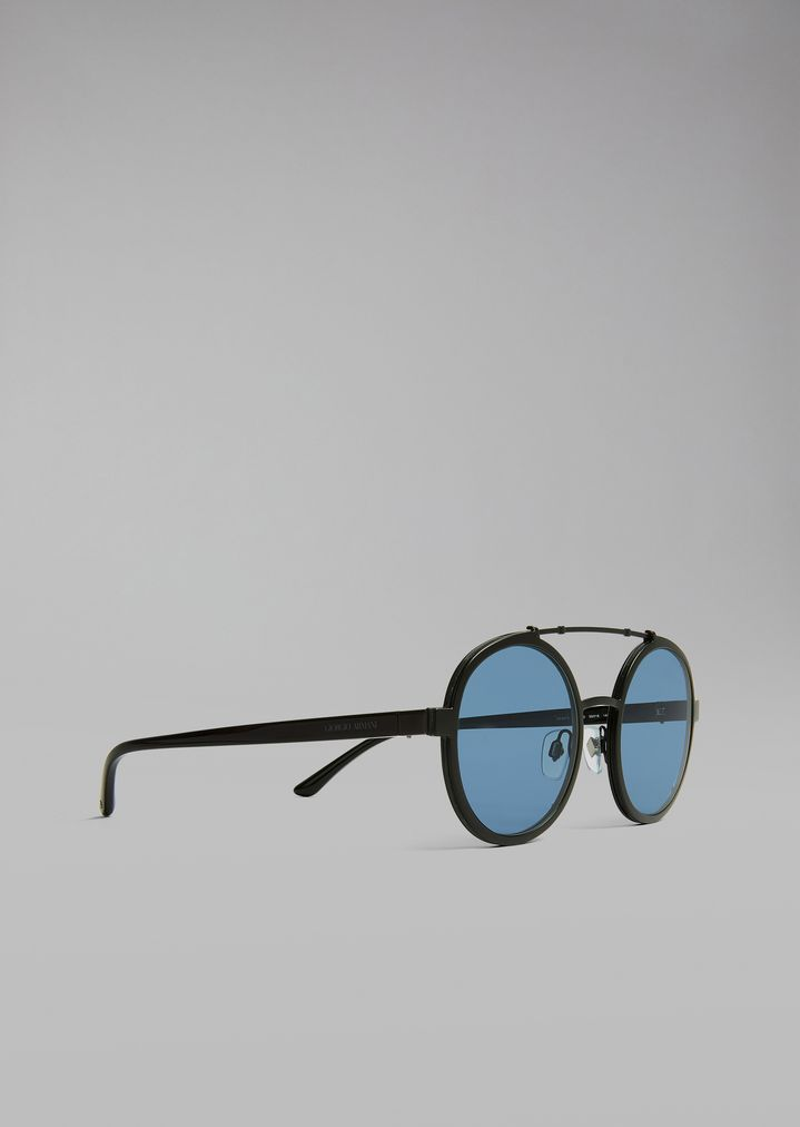 Catwalk sunglasses with rounded frame | Man | Giorgio Armani
