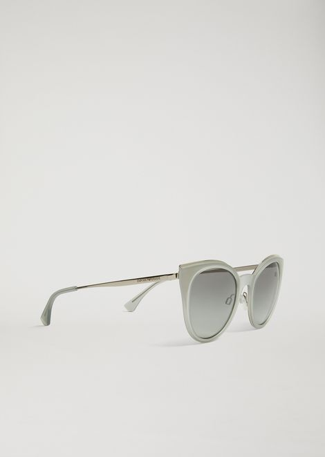 Gafas de sol cat-eye de fibra de nailon transparente