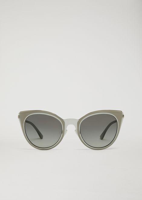 Cat-eye glasses in transparent nylon fibre