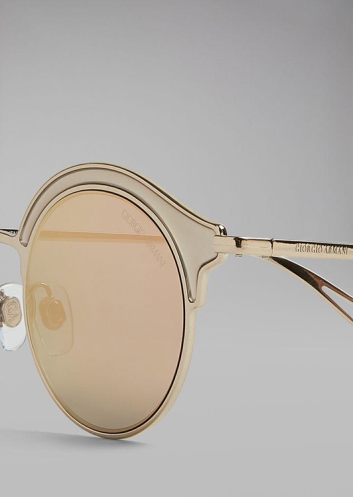 Gafas de sol con montura veteada | Mujer | Giorgio Armani