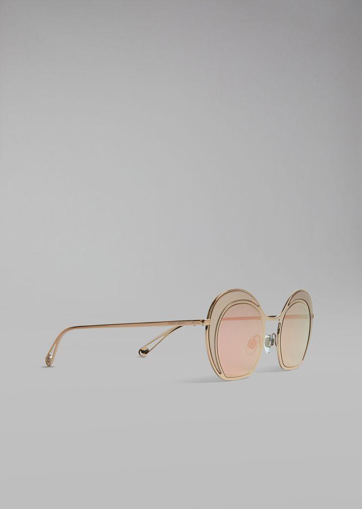 Gafas de sol catwalk con montura redonda | Mujer | Giorgio Armani