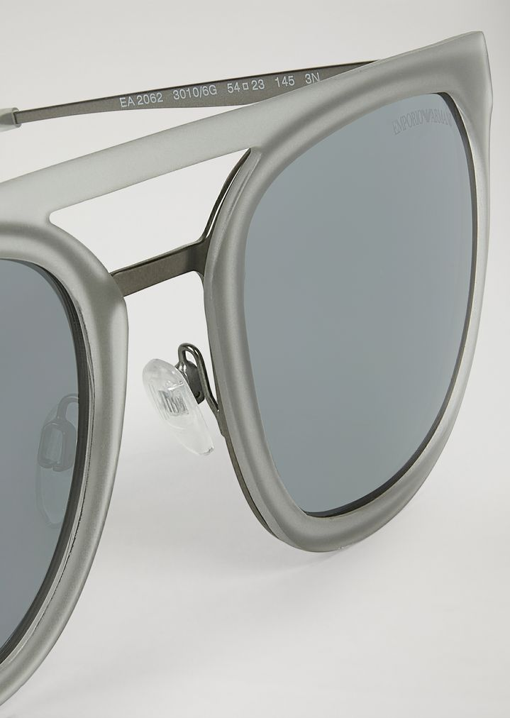 EMPORIO ARMANI Shapes sunglasses in nylon and metal Sunglasses Man e