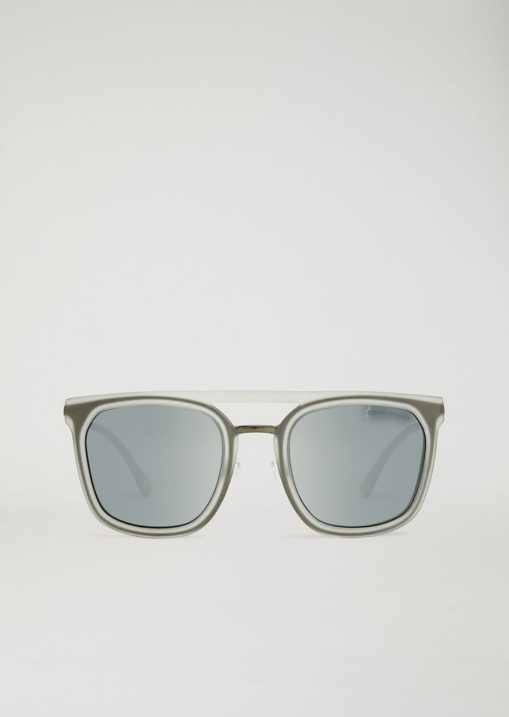 EMPORIO ARMANI Shapes sunglasses in nylon and metal Sunglasses Man r