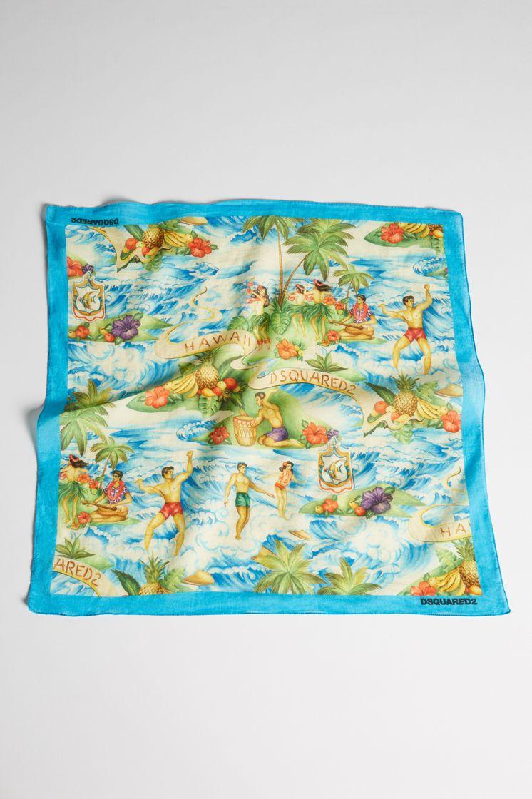 code de promo nouveaux produits pour joli design Dsquared2 Hawaiian Rocker Silk & Woven Foulard ...