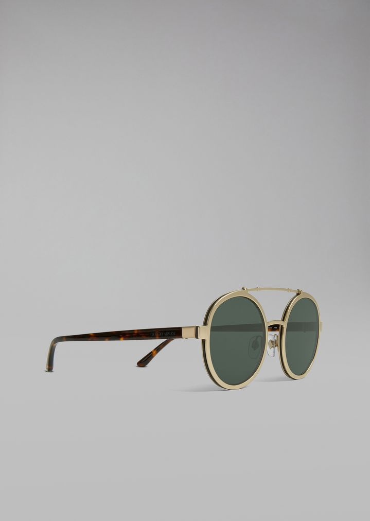 e861085be6a7 Catwalk sunglasses with rounded lenses | Man | Giorgio Armani