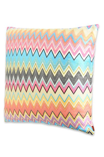 MISSONI HOME VINCI CUSHION Sky blue E - Back
