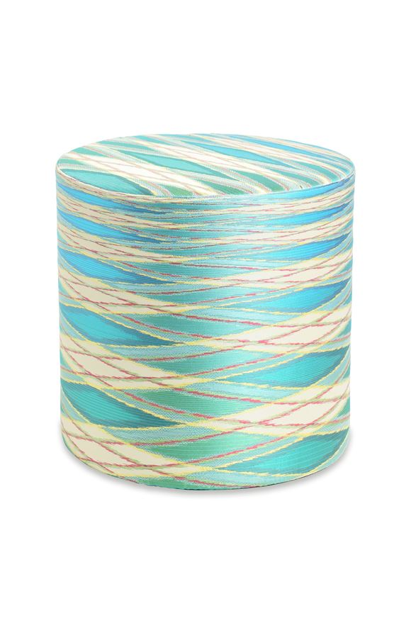 MISSONI HOME VULCANO CYLINDER POUF Light green E