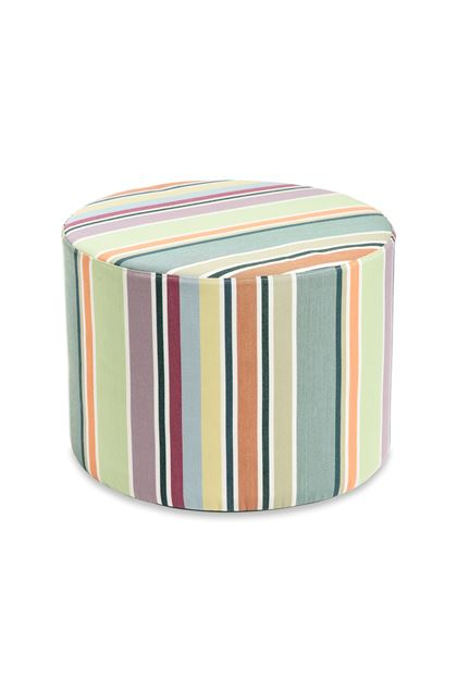 MISSONI HOME VALDEMORO CYLINDER POUF Green E - Back
