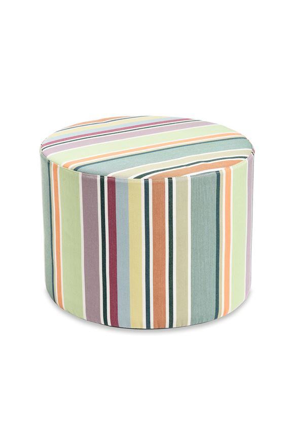 MISSONI HOME VALDEMORO CYLINDER POUF E, Frontal view
