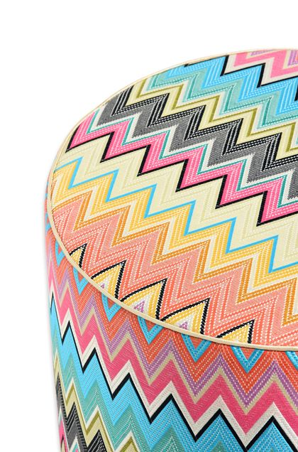 MISSONI HOME VINCI ПУФ-ЦИЛИНДР Небесно-голубой E - Передняя сторона