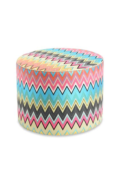 MISSONI HOME VINCI CYLINDER POUF Sky blue E - Back