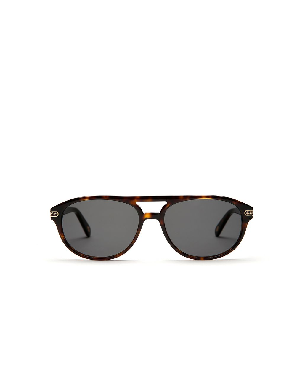 BRIONI Havana Sunglasses with Green Lenses  Sunglasses Man f