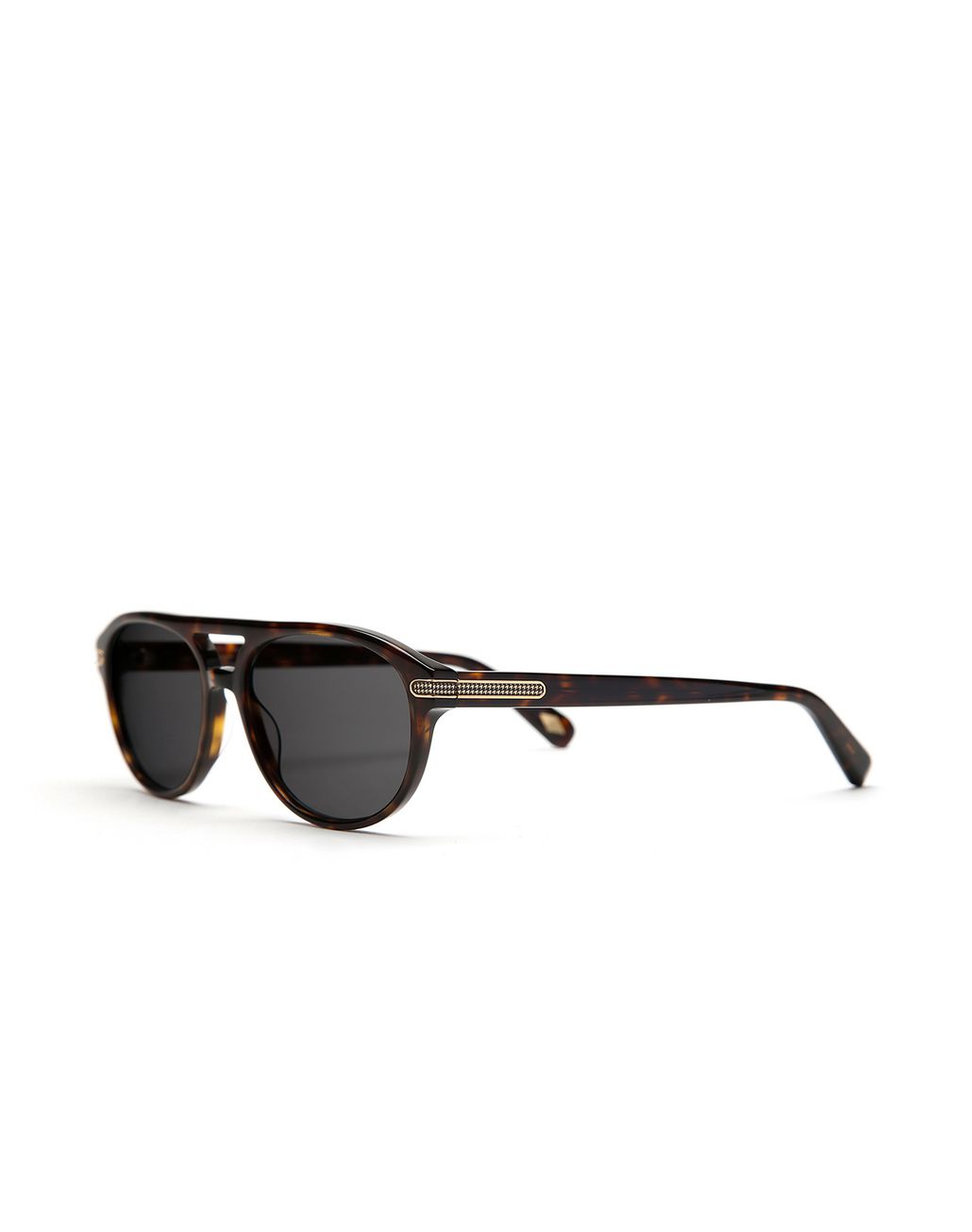 BRIONI Havana Sunglasses with Green Lenses  Sunglasses Man r