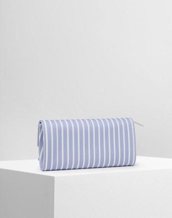 MM6 MAISON MARGIELA Stripe cotton wallet Wallet Woman r