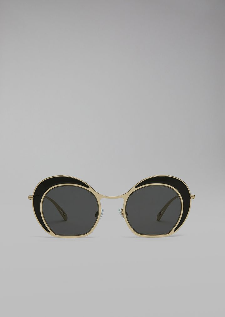Sunglasses With Double Circle Frame   Woman   Giorgio Armani