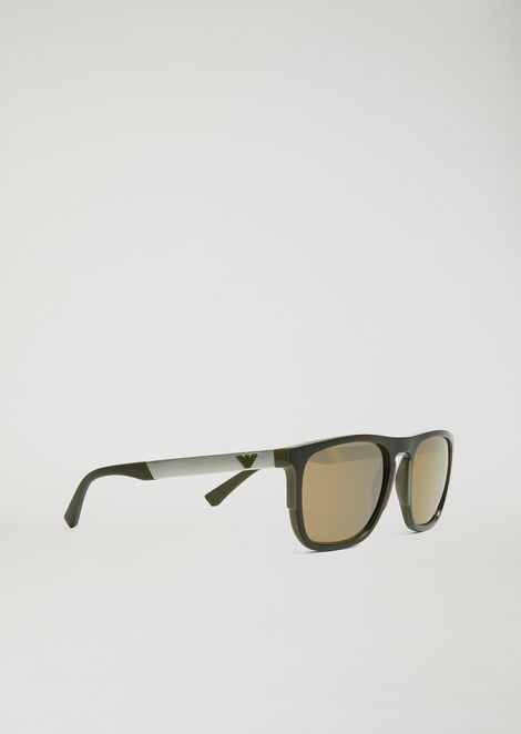 e1e7b1e99b5 Square Sunglasses In Rubber   Aluminium