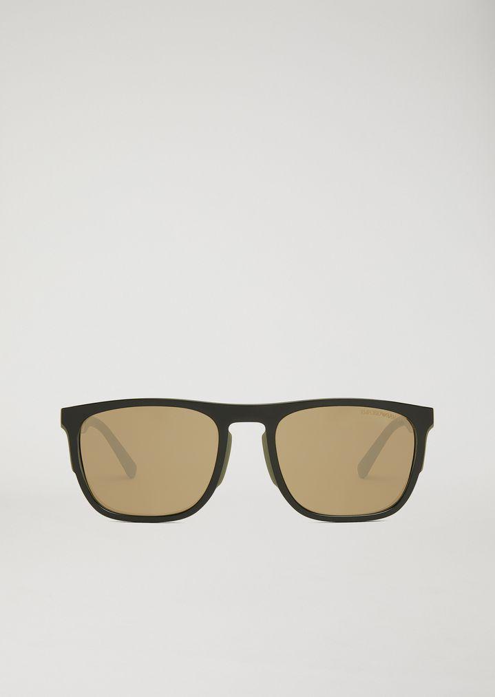 3d21df6ea0fe ... Man · Sunglasses  Square Sunglasses In Rubber   Aluminium. EMPORIO  ARMANI
