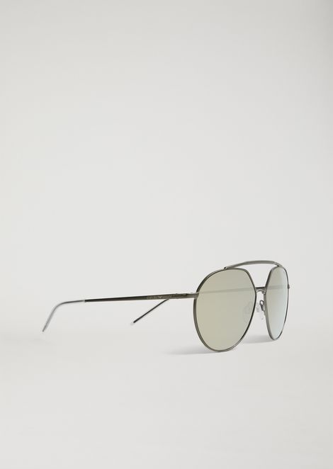 4beef7807ae Sunglasses With Double Bridge And Mirrored Lenses