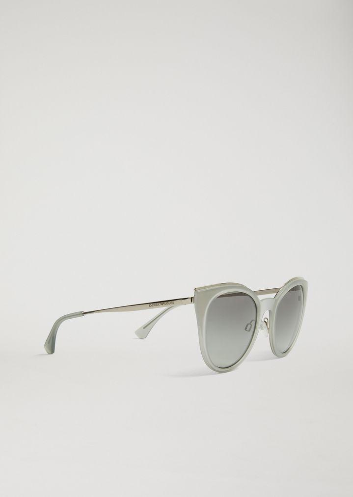 e191b9367f Cat-Eye Glasses In Transparent Nylon Fibre