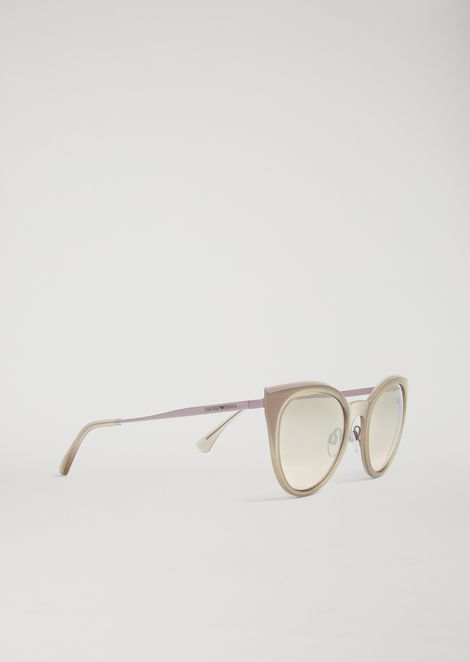 Cat-Eye Glasses In Transparent Nylon Fibre