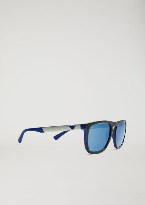5aa1c95d35d8 Square Sunglasses In Rubber   Aluminium