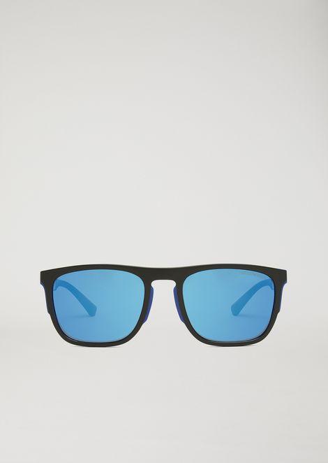 Square Sunglasses In Rubber & Aluminium