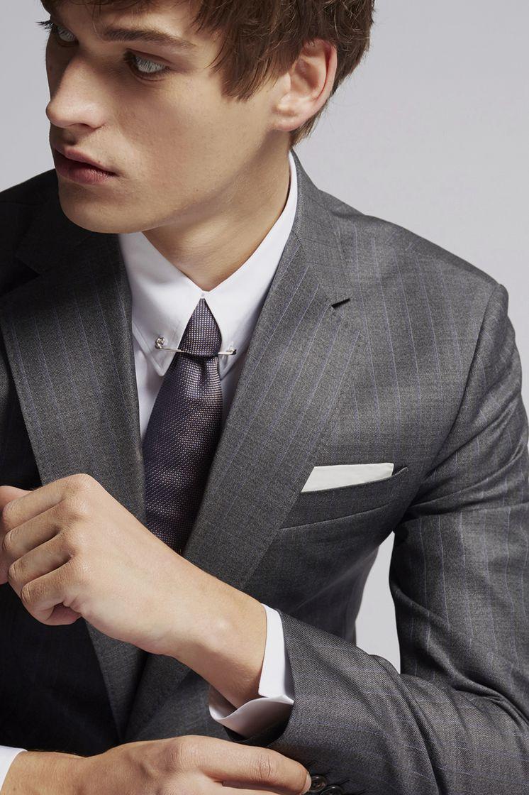 DSQUARED2 Silk & Woven Pochette Tie Man