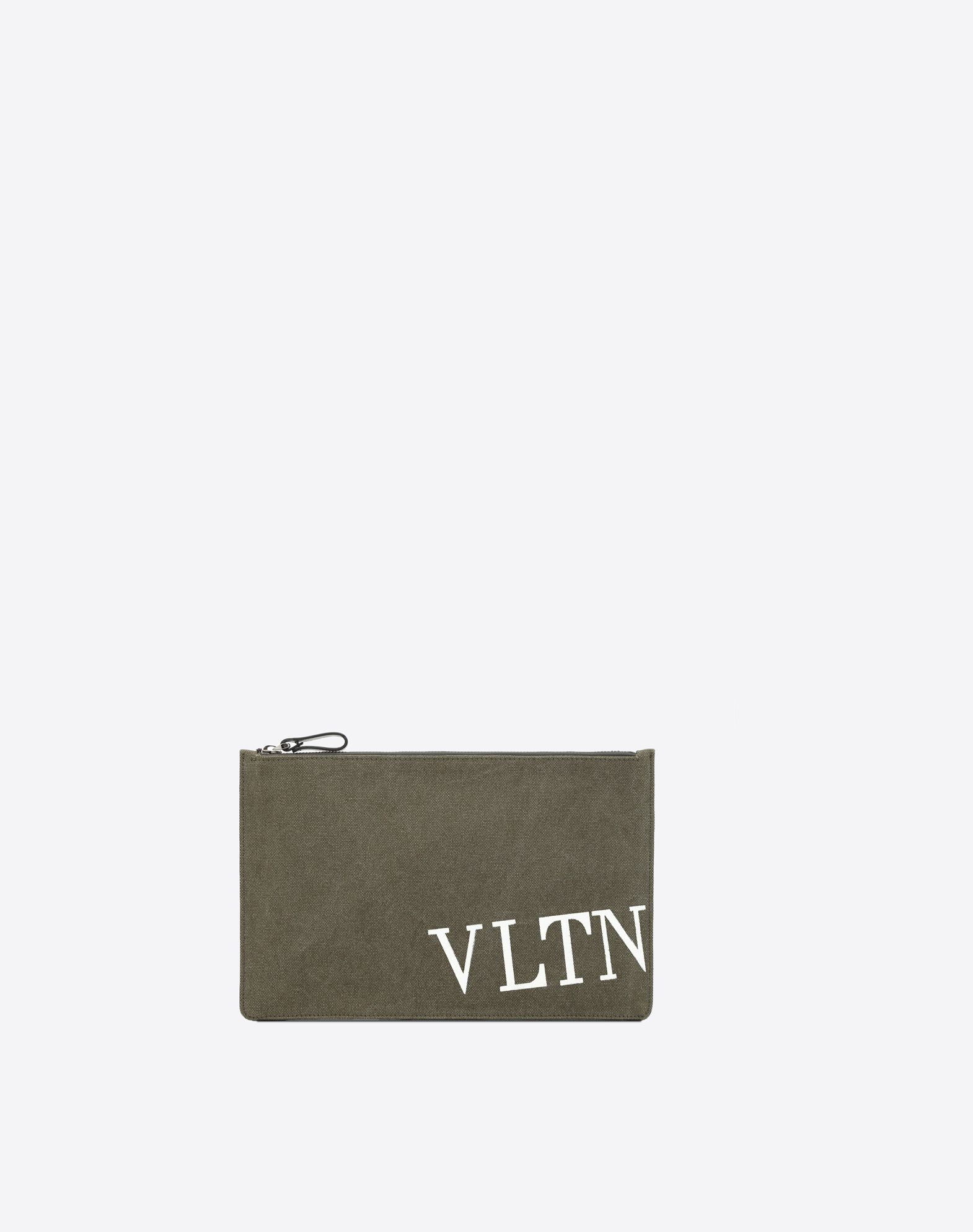 VALENTINO Logo Solid color Print Zip Internal pocket Canvas  46576678ca