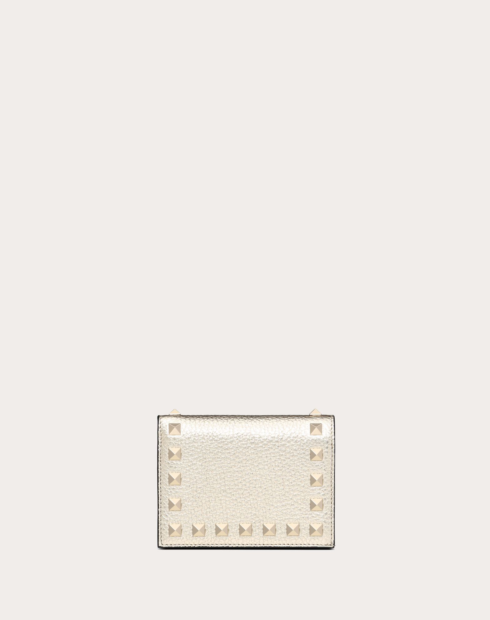 VALENTINO Textured leather Studs Basic solid colour Internal zip pocket  46578022ru