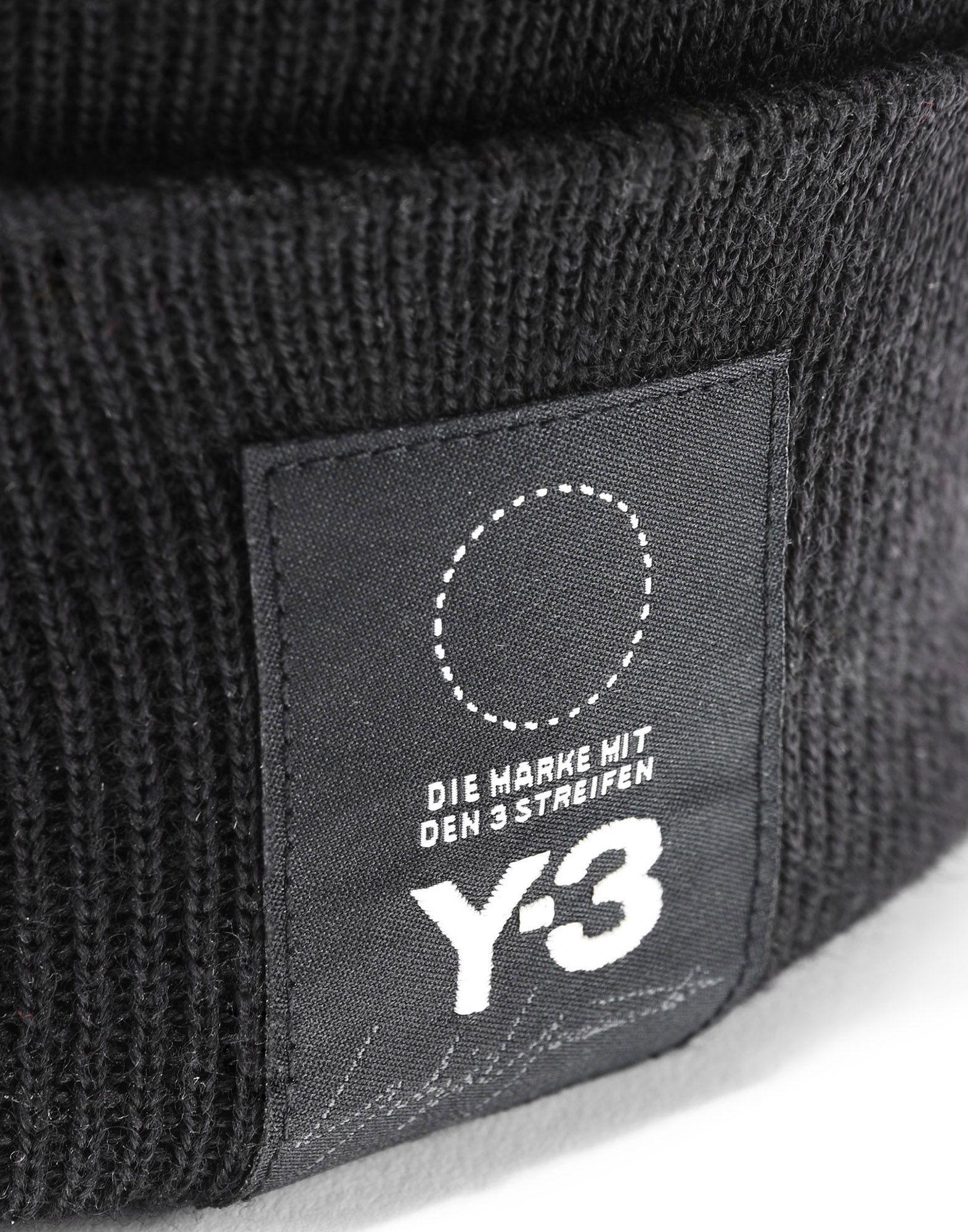 Y-3 Y-3 Logo Beanie Kappe E d