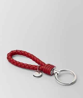CHINA RED INTRECCIATO NAPPA KEY HOLDER