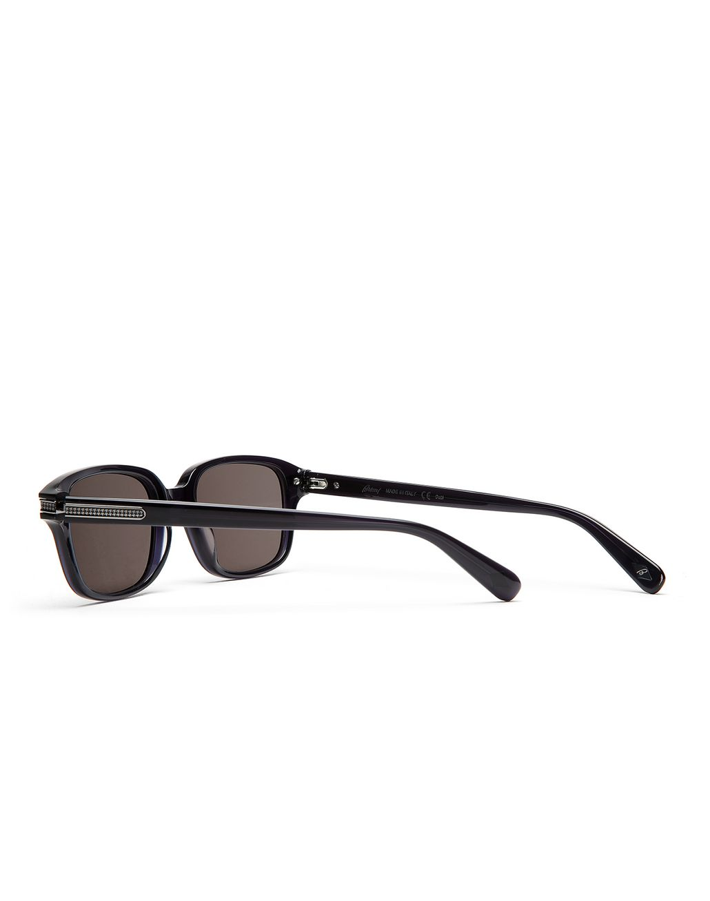 BRIONI Navy Blue Squared Sunglasses with Grey Lenses  Sunglasses Man d
