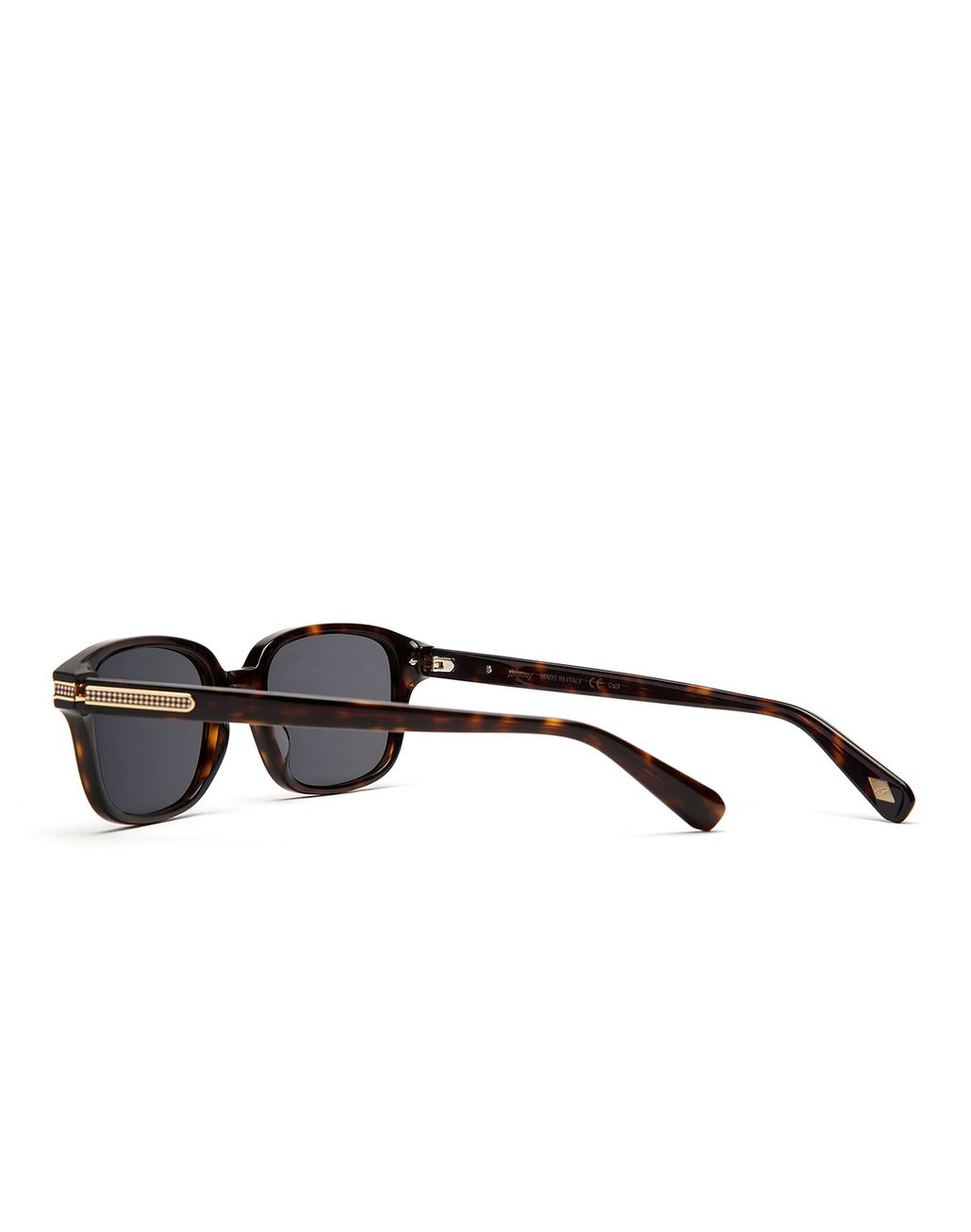 BRIONI Havana Squared Sunglasses with Green Lenses  Sunglasses Man d