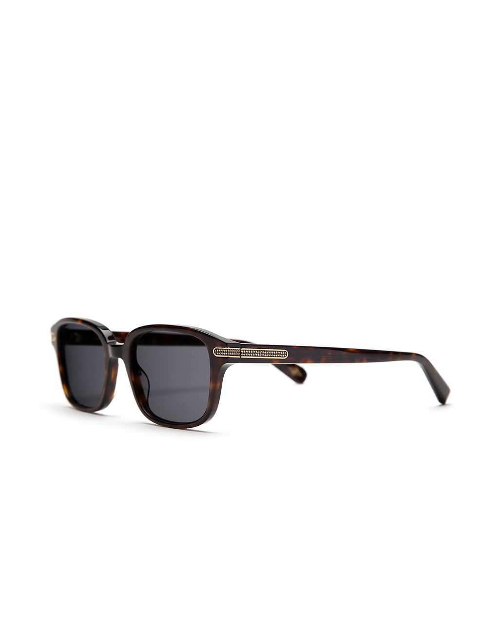 BRIONI Havana Squared Sunglasses with Green Lenses  Sunglasses Man r