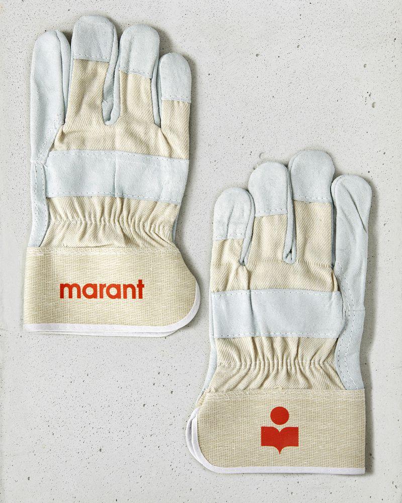 Marant logo gloves ISABEL MARANT